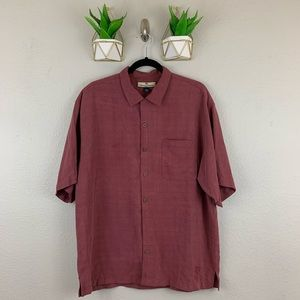 Tommy Bahama Shirt Size Large 100% Silk